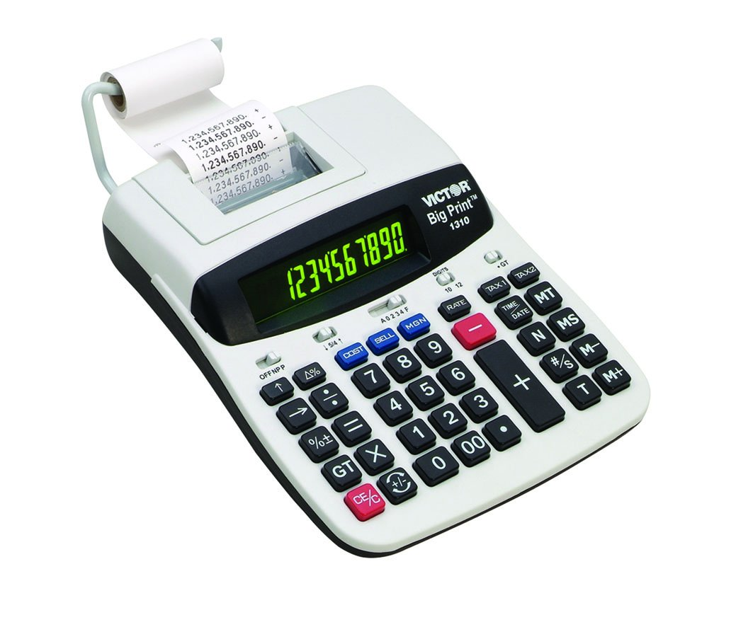 Victor 1310 Big Print Commercial Thermal Printing Calculator, Black Print, 6 Lines/Sec by Victor