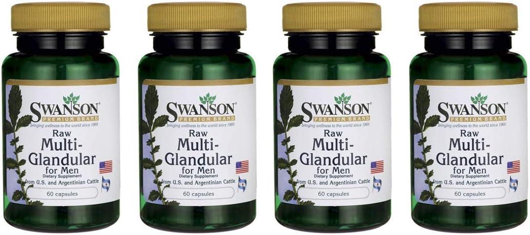 Swanson Raw Multi-Glandular for Men 60 Caps 4 Pack
