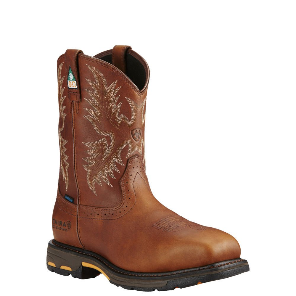 AriatメンズWorkhog CSA h2o Comp Toe Western Work ダークコッパー 8 D / Medium(Width) 8 D / Medium(Width)ダークコッパー B01D5AIWT2