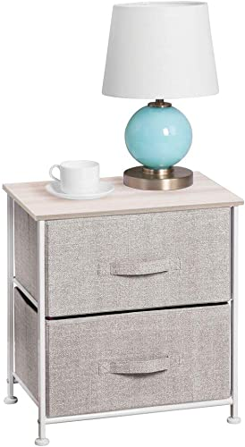 mDesign Night Stand/End Table Storage Tower - the best modern nightstand for the money