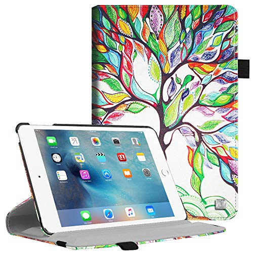 Fintie iPad Mini 4 Case - Multiple Angles Stand Case with Smart Cover Auto Sleep/Wake Feature for Apple iPad Mini 4 (2015 Release), Love Tree