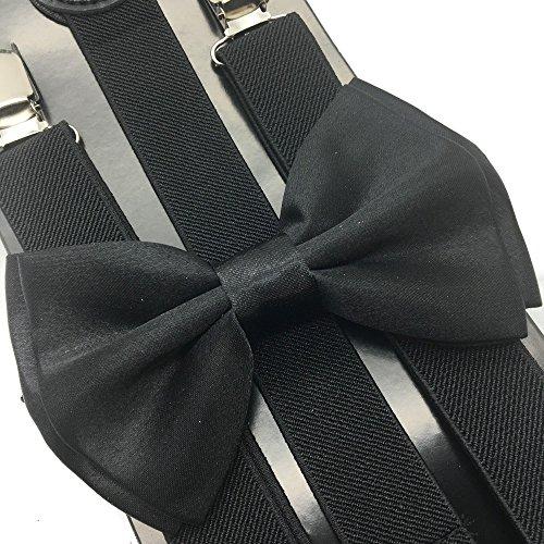 (4everstore Unisex's Bow Tie & Suspender Sets (Black))
