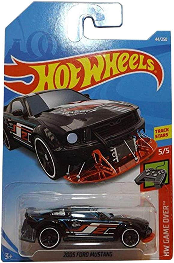 HOT WHEELS 2019  #44//250 Black 2005 Ford Mustang