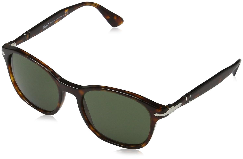 Persol 3150, Gafas de sol para Unisex, Multicolor (Gestell: havana, Gläser: grün 24/31), 54