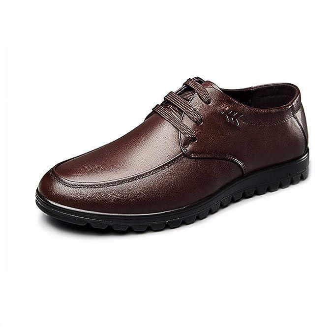 a55d786f2b MUYII Oxfords Hombre Zapatos De Vestir De Cuero Clásico Moderno Casual Con Cordones  Hombres Antideslizantes Zapatos Cómodos Zapatos De Negocios Formales ...
