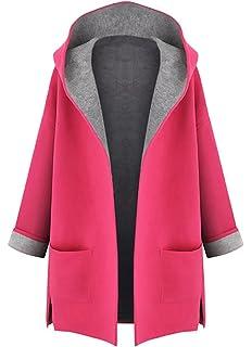 Minetom Mujer Otoño Invierno Suelto Abrigos con Capucha Moda Parka Trench Coat Elegante…