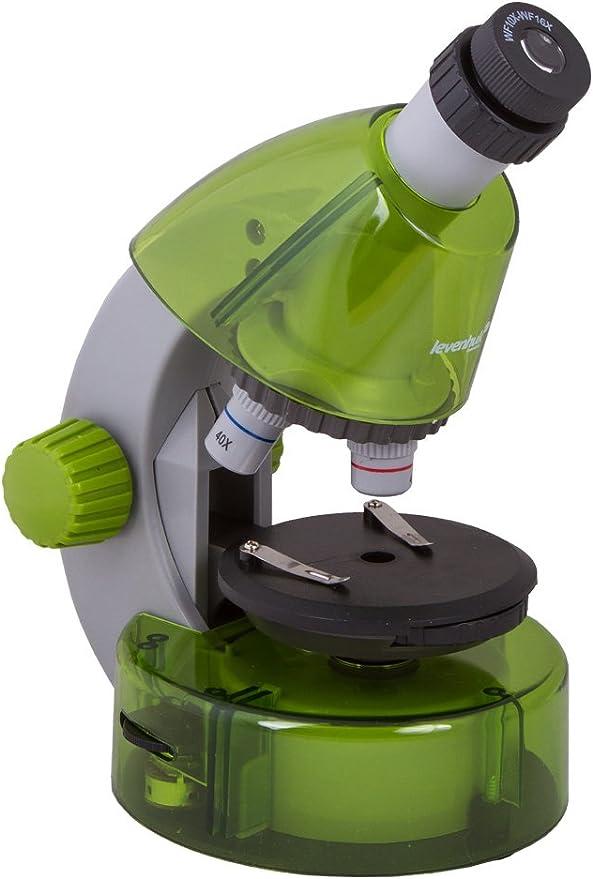 Levenhuk Labzz M101 Color Microscope Lime Green Camera Photo