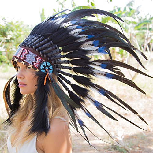 Novum Crafts Feather Headdress | Native American Indian
