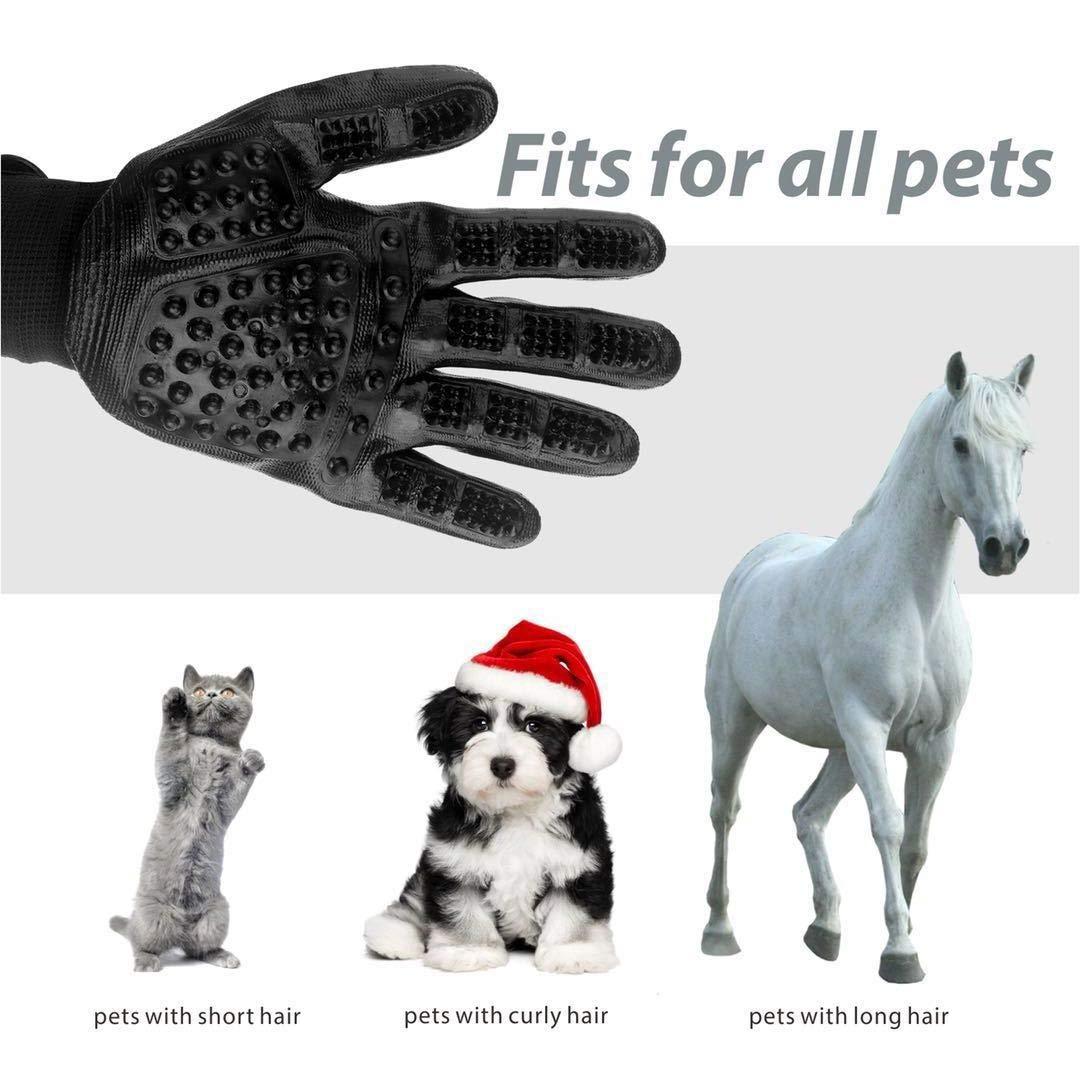 Amazon.com: Covvy - Guante de masaje para mascotas, cepillo ...