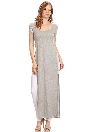 Double Slit Maxi Dress