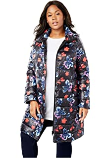 693ebea590e Amazon.com  Woman Within Plus Size Packable Puffer Jacket  Clothing