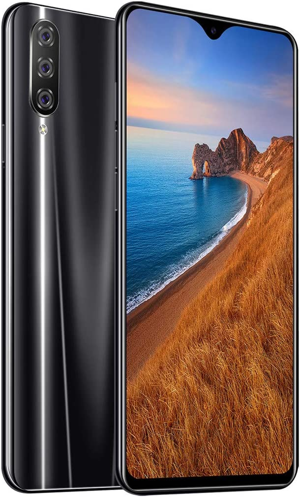 2019 New Eight Core 6.3 inch Water Screen HD Camera Smartphone Android 9.1 1+16GB Drop Touch Screen WiFi Blueteeth GPS 3G Call Mobile Phone,Face Recognition,Gravity Sensor etc Black
