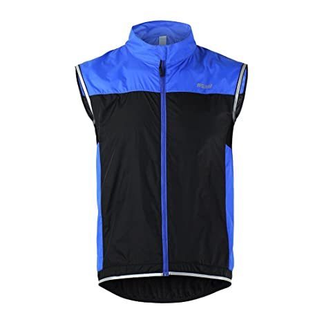 Tofern Unisex Windproof Lightweight Reflective Safety Sleeveless Vest for Cycling  Bike Sports Running 952ef044a