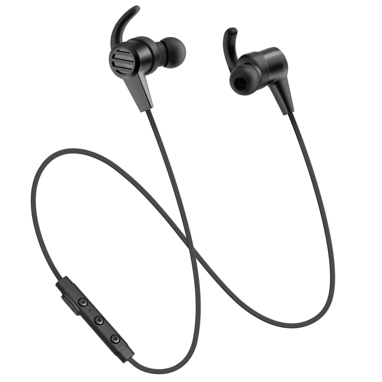Bluetooth Earphones, SoundPEATS Wireless 4.1 Magnetic Sport in The Ear Headphones (Bluetooth 4.1, High Fidelity Sound, APTX, 8 Hours Working Time)-Black
