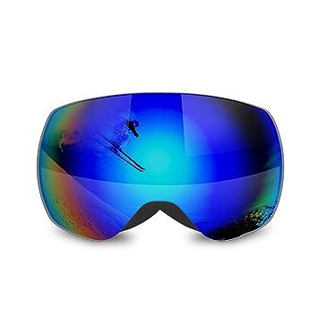 523082e8c0ac23 TOMOUNT Lunettes Masques de Ski Homme Femme Anti-Buée À Vie Anti-UV400,