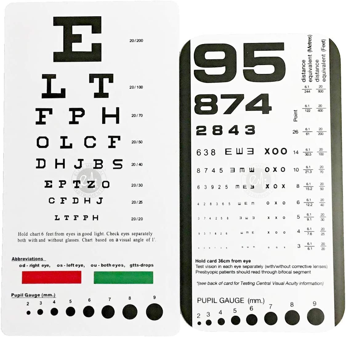 EMI Snellen Pocket Eye Chart EC-PSN