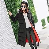Feilongzaitianba Wadded Cotton Jacket Women Winter Coat Female Fashion Warm Parkas Hooded Women'S Down Jacket Casual Coat Plus Size 3Xl C2381 Black Orange M