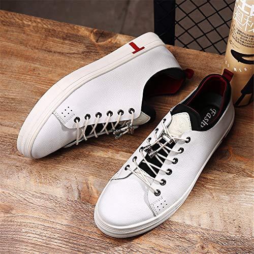 Seasons Calzado A Casual 0 Unisex Zapatillas Tela Cuero Tamaño De Cm 24 Hombre 0 Zapatos 27 Wwjdxz Wear Blanco Para Mesa All qSFUn