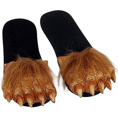 Adult Latex WEREWOLF FEET Hairy Costume Sandals LARGE  sc 1 st  Amazon.com & Amazon.com: Adult Latex WEREWOLF FEET Hairy Costume Sandals LARGE ...