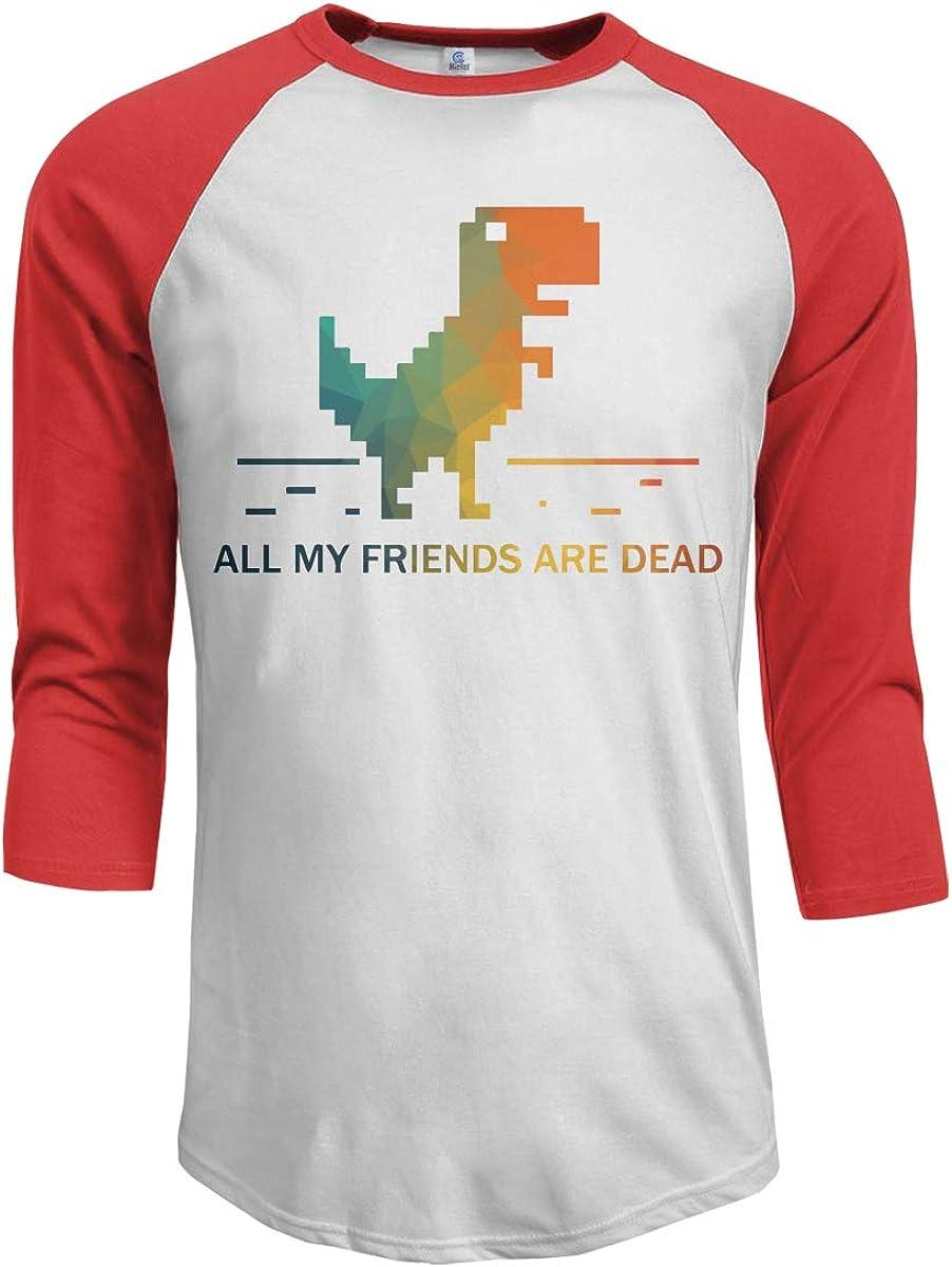 MiiyarHome Mens Raglan Sleeves Baseball T-Shirts Dino Puzzle 3//4 Long Sleeves Boys Jersey Tee Shirt Black