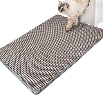 Authda Alfombrilla de Arena para Gatos Doble Capa Lavable no tóxica de Goma de Espuma Duradera fácil de Limpiar: Amazon.es: Productos para mascotas