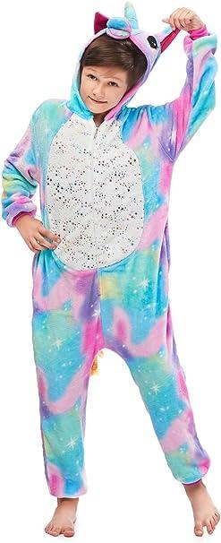 Unicorn Kid Boy Pikachu Unisex Kigurumi Fleece Pajamas Cosplay Costume Sleepwear