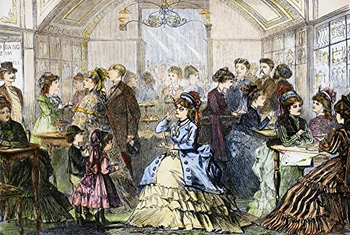 Vienna Pastry Shop 1873 Na Fashionable Conditorei (Pastry Shop) In Vienna Austria Wood Engraving English 1873 Poster Print by (24 x 36)