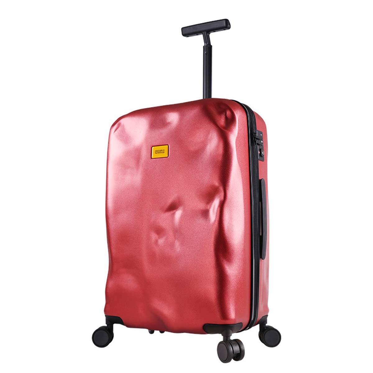 スーツケース、機内持ち込み手荷物箱軽量360度スピナー/TSA 認定/キャビン (22~24 インチ),red,24inches B07Q275QRY red 24inches