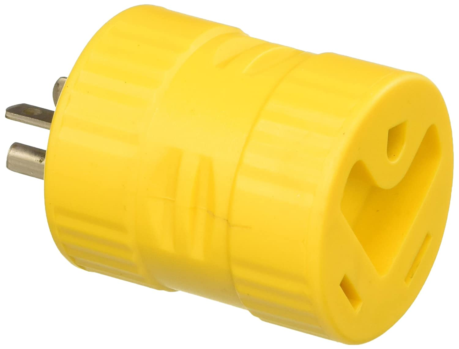 ParkPower 126A Generator Adapter, 30A/125V Connector and 20A/125V Straight Blade Male Plug Park Power