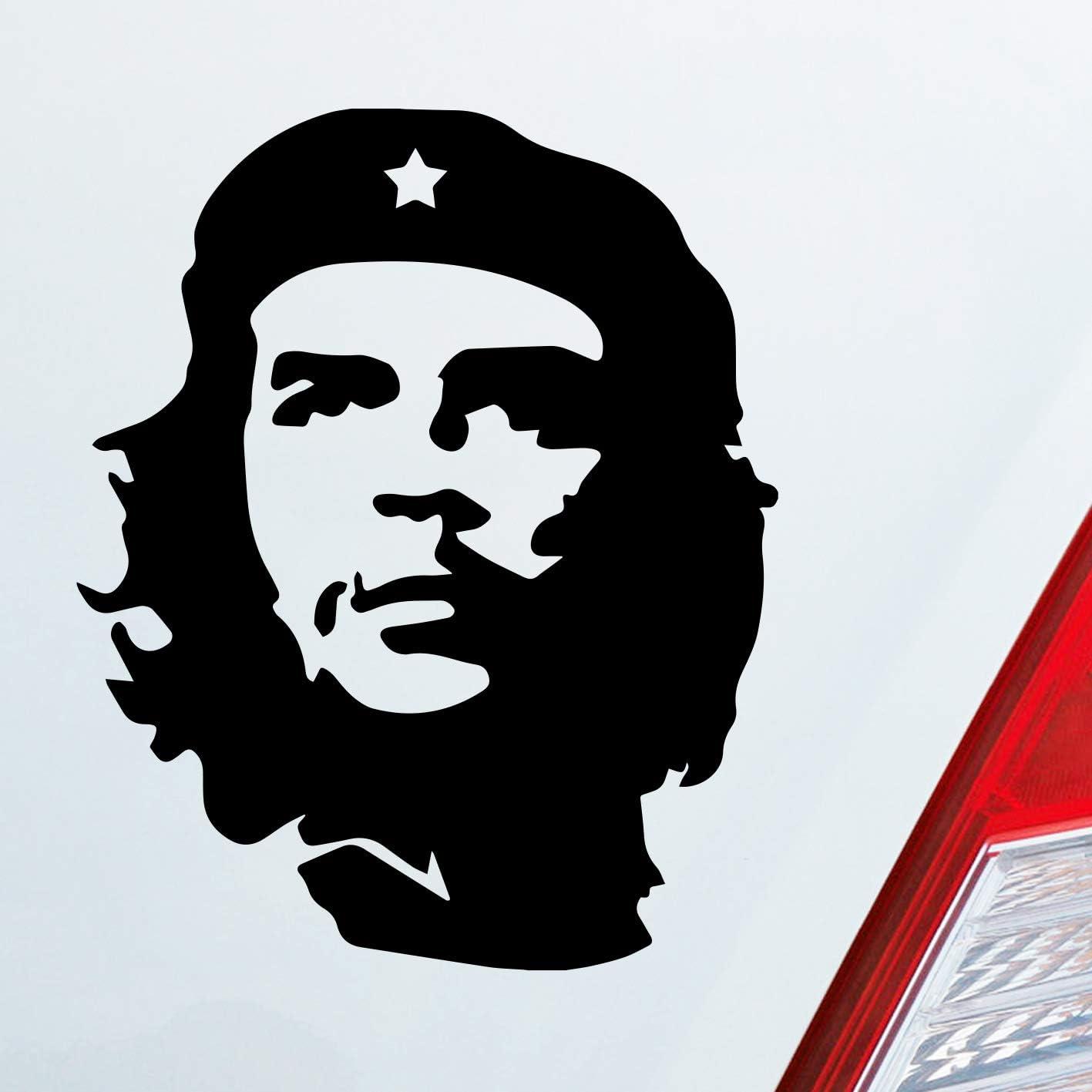 Auto Aufkleber In Deiner Wunschfarbe Che Guevara Guerillaführer 8x10cm Autoaufkleber Sticker Folie Auto