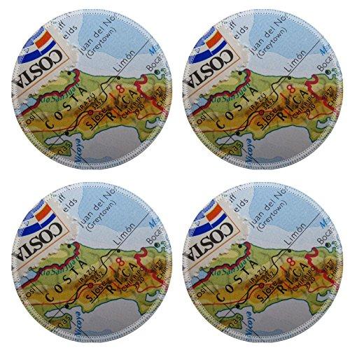 Luxlady Round Coasterss IMAGE ID 3669799 Vintage map - Round Border Rubber Stamp