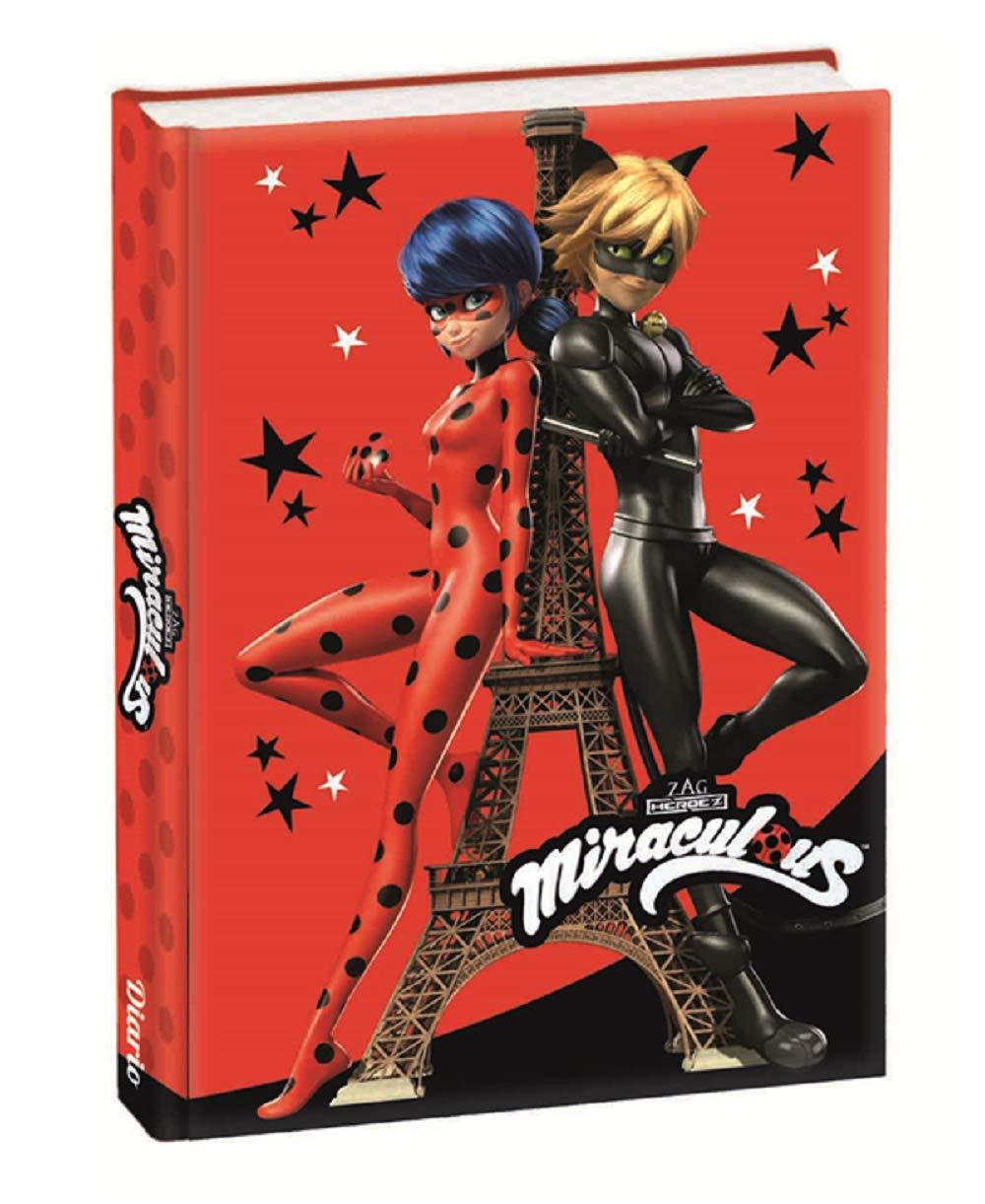 Diario Scuola Miraculous Ladybug 12 Mesi Non Datato Rosso Tour Eiffel 13x18 cm Franco Panini Penna Colorata