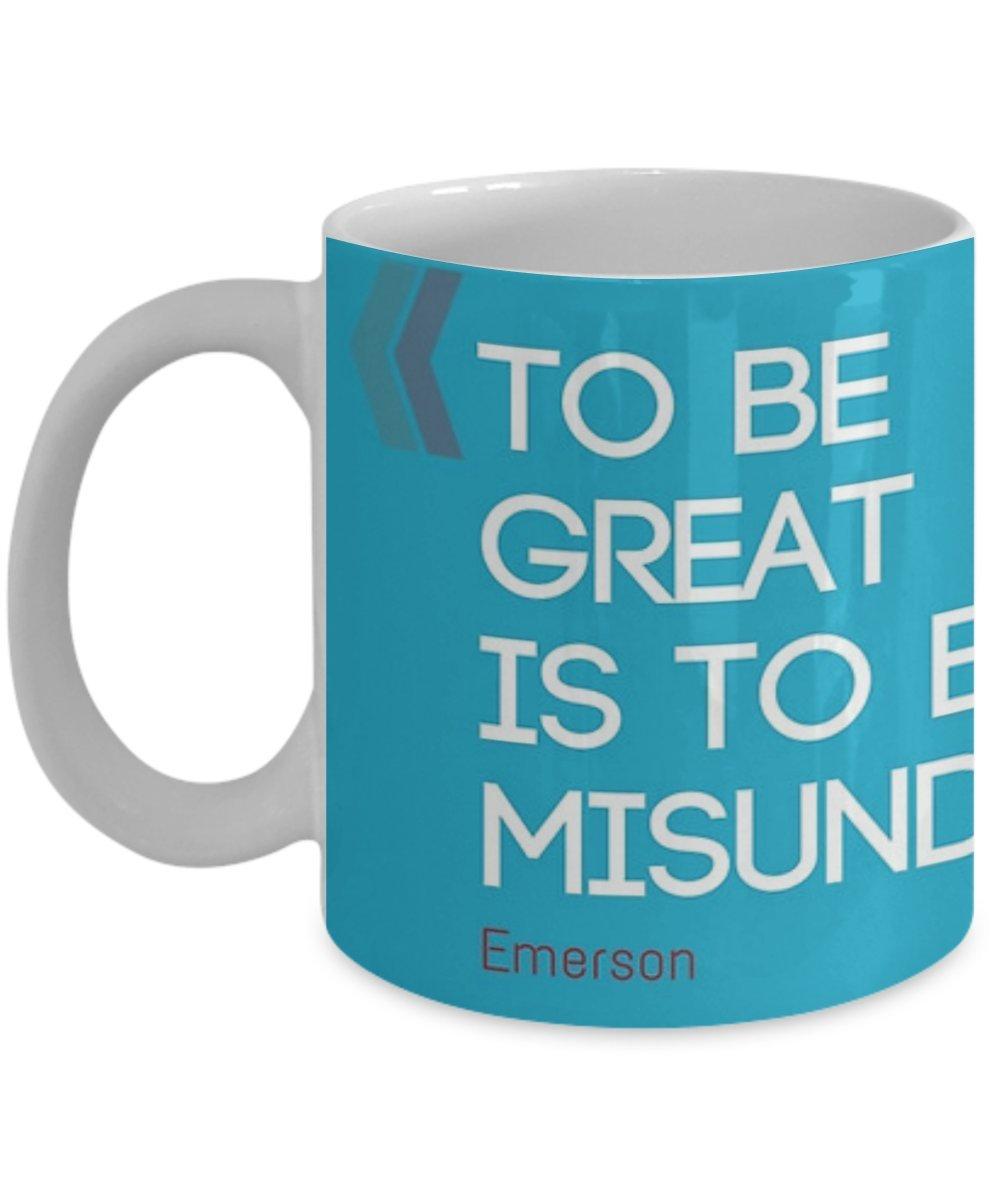 Amazoncom To Be Great Is To Be Misunderstood Coffee Mug Tea Cup