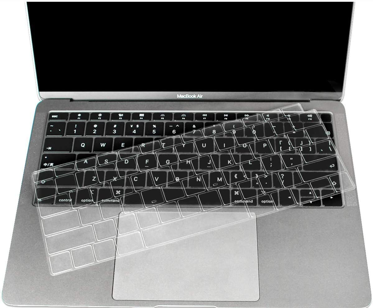 CaseBuy Premium Ultra Thin Keyboard Cover Compatible Newest MacBook Air 13 Inch 2019 2018 Release A1932 with Retina Display Soft-Touch TPU Keyboard Protective Skin (NOT Fit 2020 Release)
