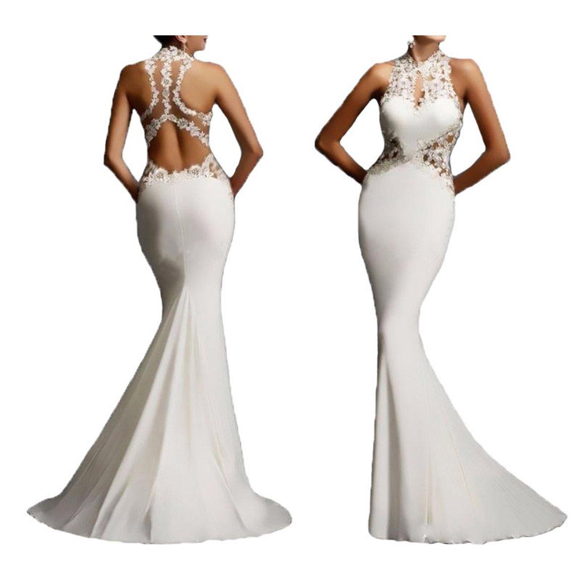 de91fe1d2a0 YSTWLKJ Damen Maxi Etuikleid Spitze Cocktailkleid Abendkleid Meerjungfrau  Paket-Hüfte-Kleid Hockzeitkleid  Amazon.de  Bekleidung