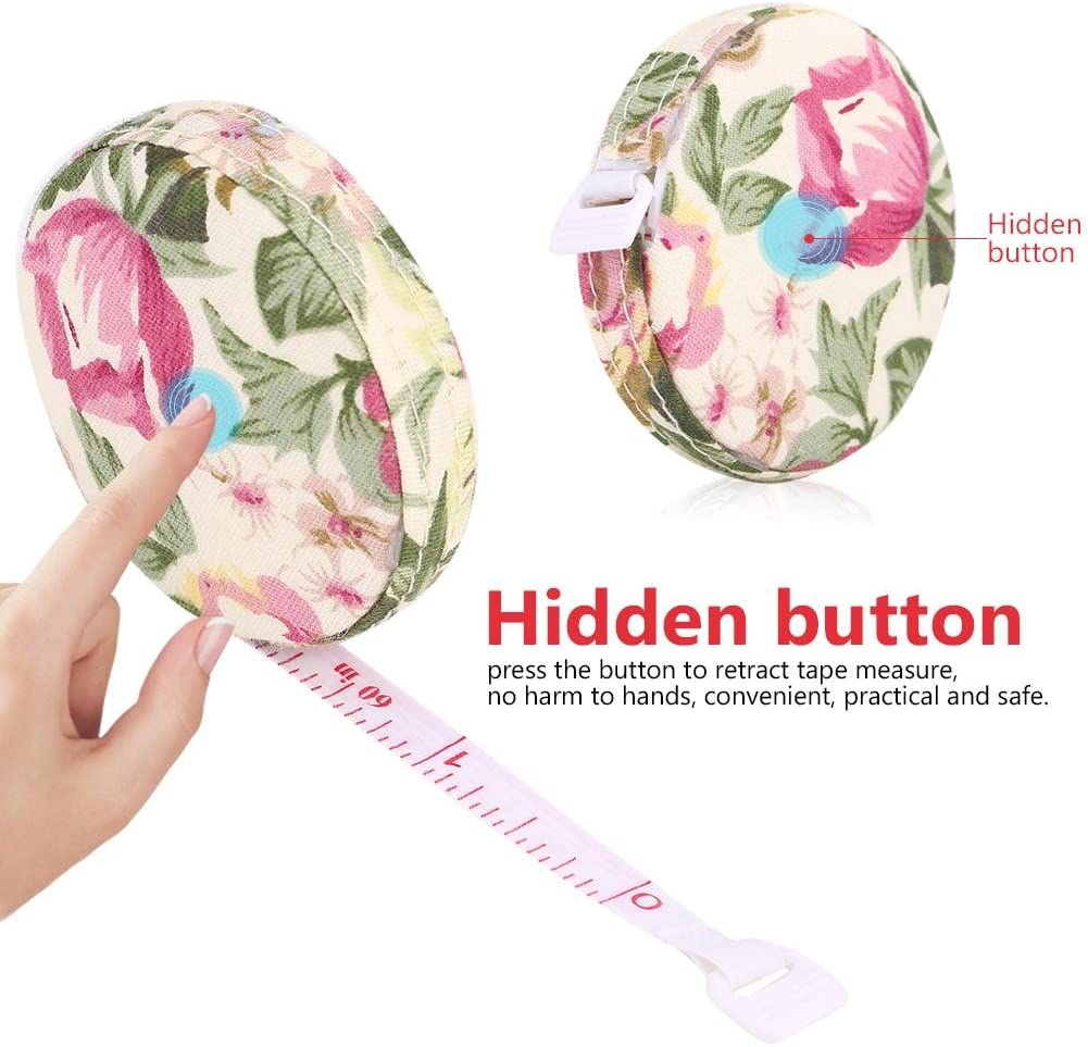 FTVOGUE Soft Tape Measure Body Fitness Measuring Retractable Ruler Sewing Tailor Tools 150cm 60in 01