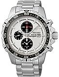 Seiko - SSC297P1 - Solar - Montre Homme - Automatique Chronographe - Cadran Blanc - Bracelet Acier Gris