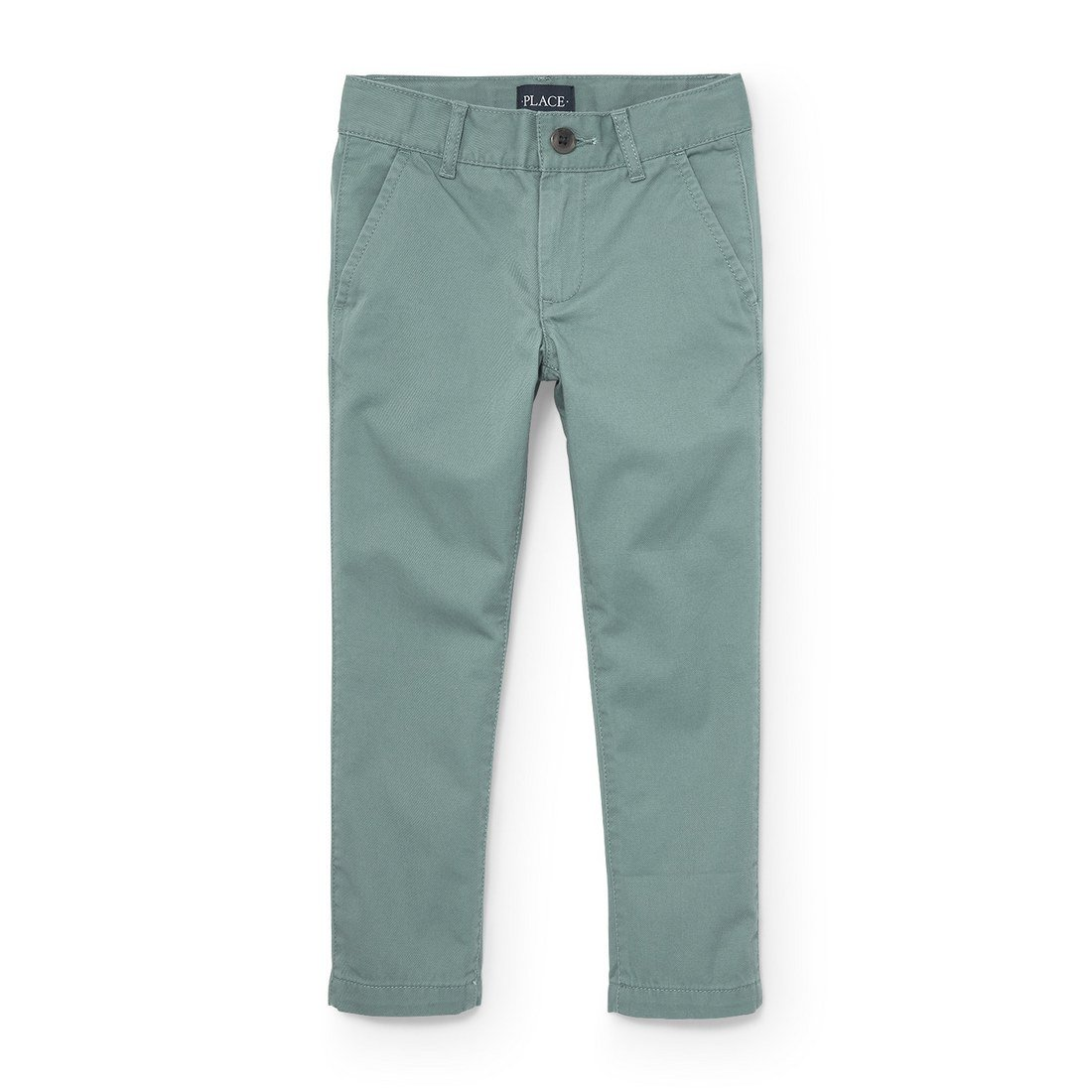 The Children's Place Big Boys' Skinny Uniform Chino Pants, Norway Spruce 4133, 16