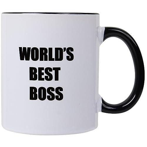 worlds best boss 11oz ceramic coffee mugunique bosses day christmas present idea gifts