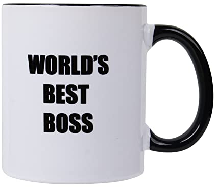 Mecai Worlds Best Boss 11OZ Ceramic Coffee MugUnique Birthday Gift For Men