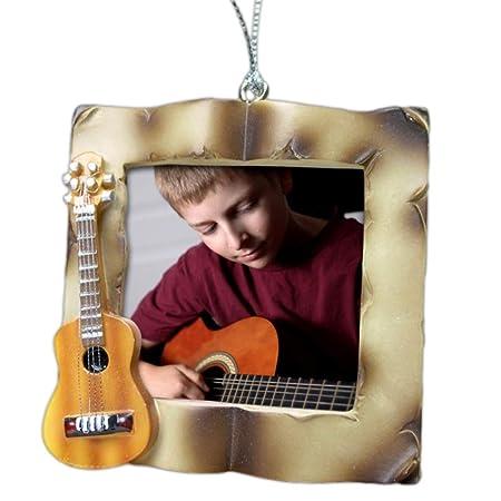 Guitarra acústica marco - Adorno de música marco de fotos o ...