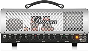 BUGERA T50-INFINIUM 50-Watt Cage-Style 2-Channel Amplifier Head with Infinium Tube Life Multiplier Silver multicolored, (T50INFINIUM)