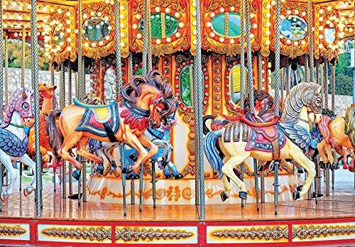 Colorluxe 1500 Piece Puzzle - Vintage Carousel Horses