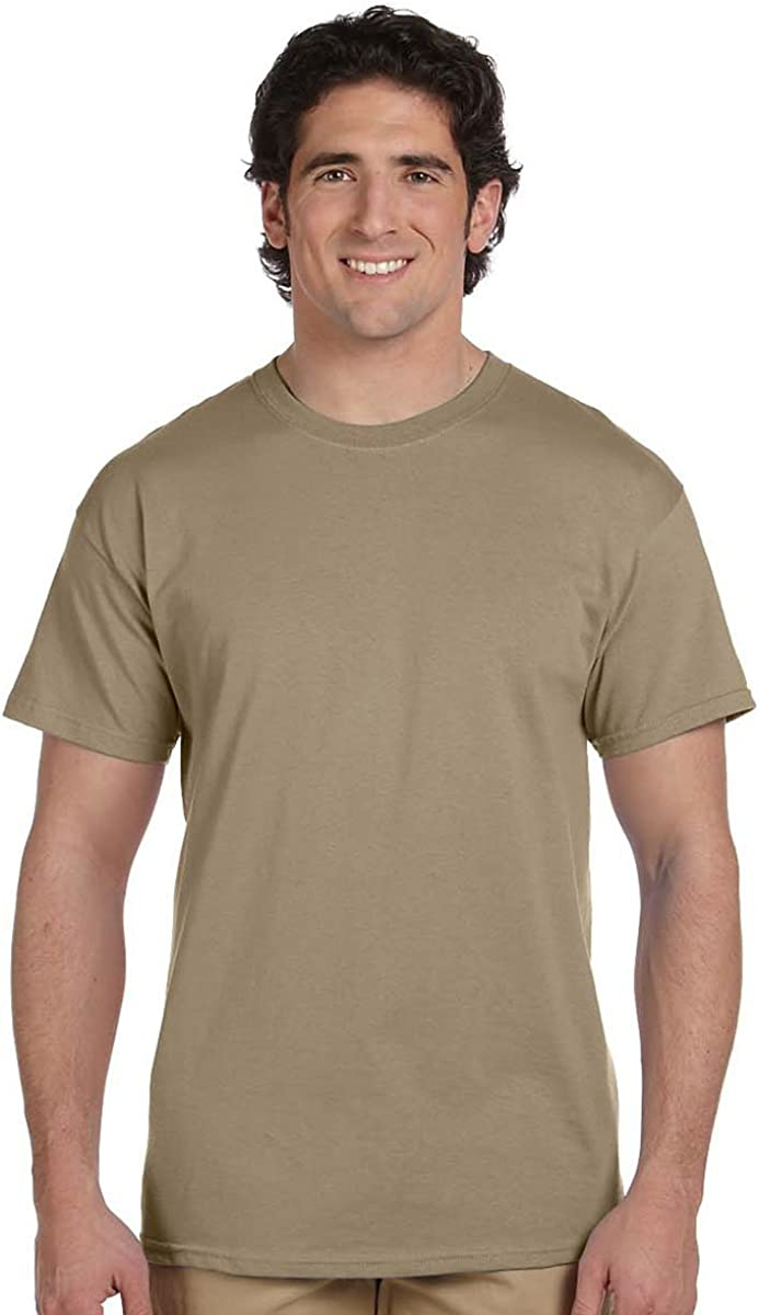 Fruit of the Loom Mens 5 oz Pack of 6 100/% Heavy Cotton HD T-Shirt