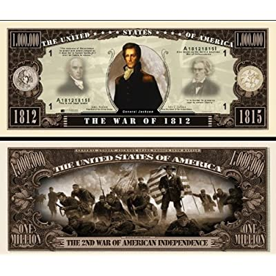 The War of 1812 Million Dollar Bill (w/protector): Toys & Games