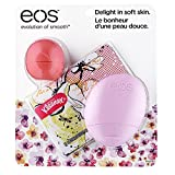 EOS Evolution of Smooth Limited Edition Floral Lip Balm, Lotion and Kleenex Kit