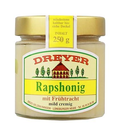 Dreyer - Rapshonig mit Frühtracht - 250g: Amazon.de: Lebensmittel ...