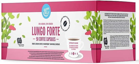 Marca Amazon - Happy Belly Lungo forte Café UTZ molido de tueste ...