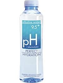 Perfect Hydration Alkaline Water, 9.5+ pH (20 oz. - Pack of 24) | Ultra Purified, Electrolyte Enhanced Drinking Water
