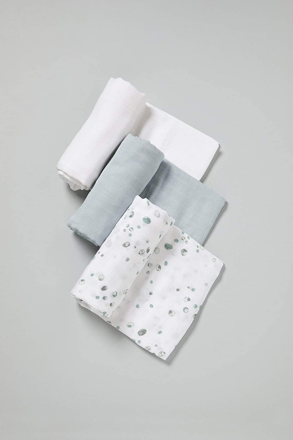 Whisper Grey 1 libra Little Bamboo Muslin Baby Wrap